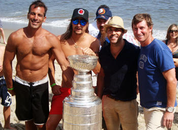 Chelios, Kid Rock , Wayne in Malibu