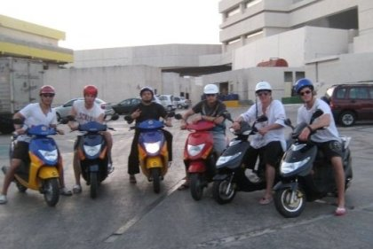 Habs rookies in Cancun on their bike! So gangsta!